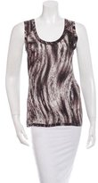 Magaschoni Printed Sleeveless Top