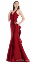Morrell Maxie Dramatic Ruffled Back Evening Gown