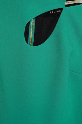 Roland Mouret Theand Cutout Crepe Midi Dress
