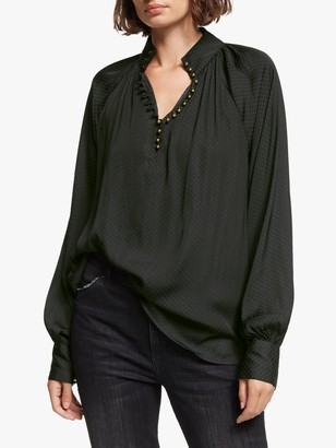 AND/OR Ivy Blouse, Black