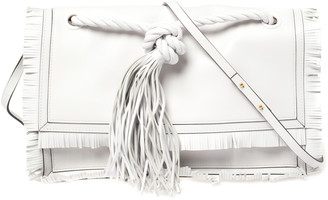 Valentino White Leather The Rope Shoulder Bag