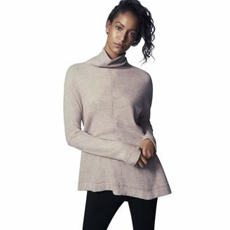 b new york Women's Long Sleeve Turtleneck Asymmetrical Top