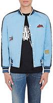 Lanvin Men's Appliquéd Bomber Jacket-BLUE