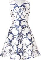 Prabal Gurung Silk-Cotton Mirror Print Dress