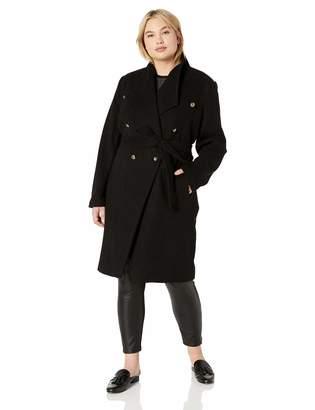 City Chic Women's Apparel Women's Plus Size Button Detailed Coat
