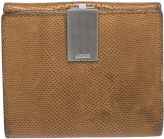 Gucci Light Brown Karung Snakeskin Vintage Clip Compact Wallet