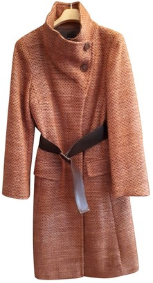 Non Signé / Unsigned Non Signe / Unsigned Orange Wool Coat for Women