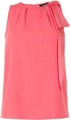 Paule Ka Bow Detail Sleeveless Blouse