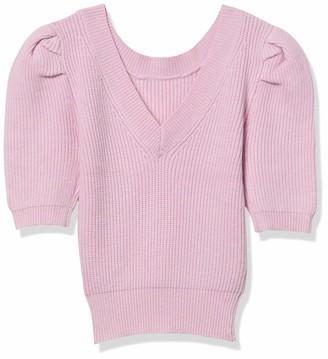 ASTR the Label Women's Elbow Sleeve V-Neck Villa Sweater
