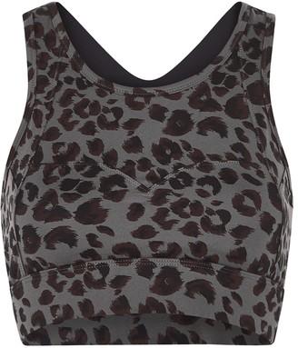 Varley Bassett Cheetah-print Bra Top