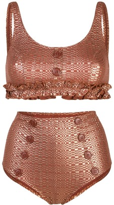 Lisa Marie Fernandez metallic two-piece bikini