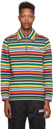 Li Ning Li-Ning Multicolor Stripe Long Sleeve Polo
