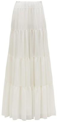 Gabriela Hearst Mariela Tiered Wool-blend Maxi Skirt - Womens - Ivory