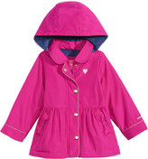London Fog Hooded Peplum Rain Jacket, Toddler & Little Girls (2T-6X)