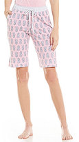 Karen Neuburger Pineapple-Print Bermuda Sleep Shorts