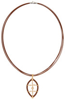 Alor 18K Gold & Diamond Stainless Steel Cord Pendant Necklace - 0.16 ctw