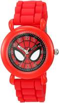Marvel Boy's 'Spider-Man' Quartz Plastic and Silicone Casual Watch, Color: (Model: WMA000030)