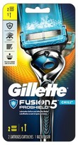 Gillette Fusion® ProShield Chill Men's Razor With FlexBall® Handle and 2 Razor Blade Refills - 2 ct