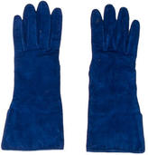 Burberry Cobalt Suede Gloves