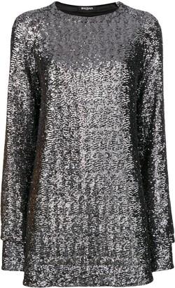 Balmain Sequin Embroidered Mini Dress