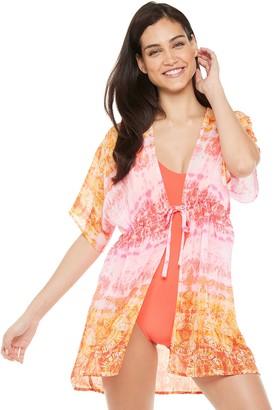 Porto Cruz Women's Portocruz Tie-Dye Kimono Swim Cover-Up