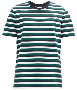 Helmut Lang Striped Cotton-jersey T-shirt - Green Multi