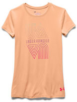 Under Armour Girls 7-16 Athletic Logo Tee