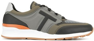 Tod's colour block lace-up sneakers