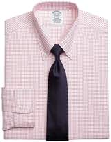 Brooks Brothers Regent Fit Original Polo® Button-Down Oxford Small Windowpane Dress Shirt