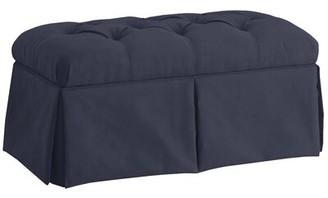 Alcott Hill Diana Upholstered Flip Top Storage Bench Color: Premier Lazuli Blue