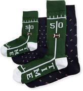 Neiman Marcus Dad & Dude Game Time Socks Cube, Green