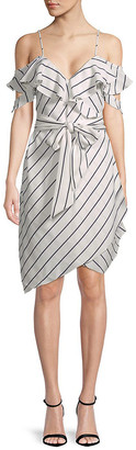 KENDALL + KYLIE Pinstriped Wrap Dress