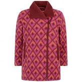 Oilily OililyRed & Pink Wool Jacquard Candy Coat