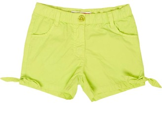 MINOTI Junior Girls Neon Poplin Shorts Lime