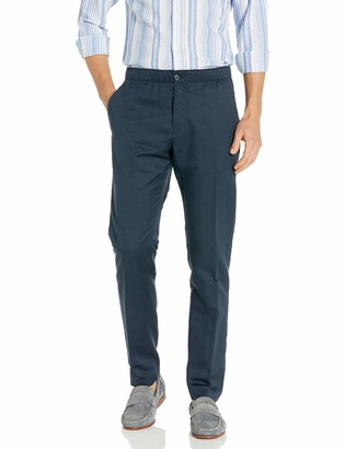Perry Ellis Men's Stretch Linen Blend Drawstring Pant