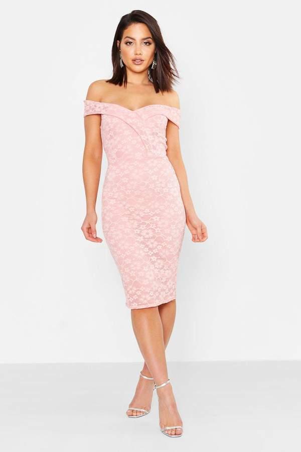e8cb2033dbd2 boohoo Pink Lace Midi Dresses - ShopStyle UK