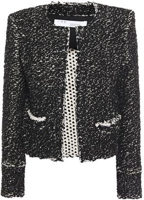 IRO Juliana Frayed Jacquard-knit Cotton-blend Jacket