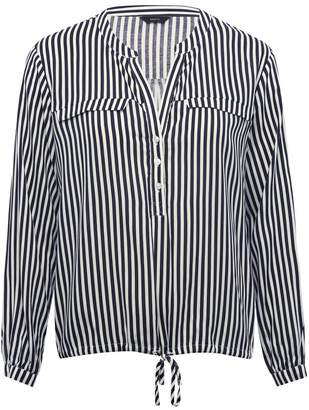 M&Co Stripe bubble hem blouse