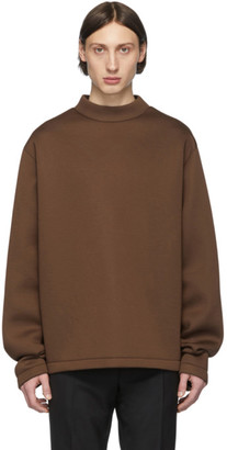 Maison Margiela Brown Scuba Sweatshirt