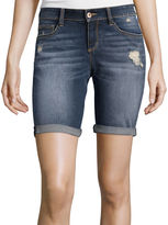 Arizona Destructed Roll-Cuff Bermuda Shorts - Juniors