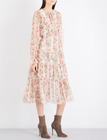 Zimmermann Folly neck-tie silk-georgette dress