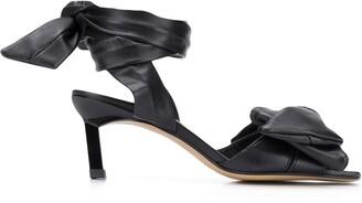 Ganni Bow Detail Kitten Heel Sandals