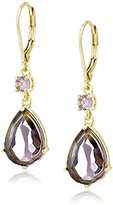 Carolee Flower District Synthetic Amethyst Teardrop Earrings
