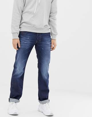 Diesel Larkee straight fit jeans in 087AN-Blue
