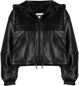 Apparis Zip-Up Cropped Faux-Leather Jacket
