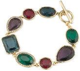 Lauren Ralph Lauren Gold-Tone Multi-Stone and Pavé Link Toggle Bracelet