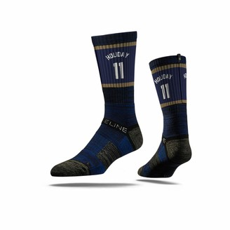 Strideline NBA New Orleans Pelicans Jure Holiday Jersey Premium Athletic Crew Socks One Size