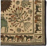 Drakes Drake's Men's Animal-Print Wool-Silk Pocket Square