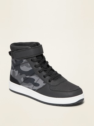 Old Navy Camo Secure-Close Strap High-Top Sneakers for Boys