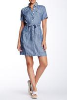 Max Studio Short Sleeve Linen Shirt Dress